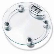Home Basics Digital Weighing Scale With Glass LCD Display