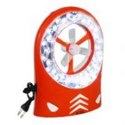 Jumbo 2 In 1 Rechargeable Fan With LED Lamp Emergency Light Hl5580