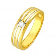 Jpearls Simple Diamond Ring For Men