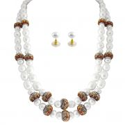 Jpearls Daisy 2line Pearl Necklace Set