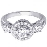 Hoop Silver With Cz Diamond Silver Ring For Womens Re1087