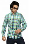 Moksh Checkered Casual Cotton Shirt For Mens - (code - I0414ms16ls)