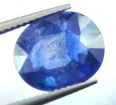 Lab Certified 5.78cts{6.42 Ratti}transparent Natural Blue Sapphire/neelam