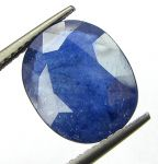 Certified 5.80cts Semi-transparent Natural Blue Sapphire/neelam(for Shani)