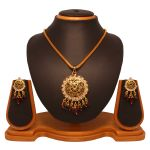 Vendee Fashion Dazzling Round Pendant Set