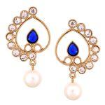 Vendee Fashion Awesome White Diamond & Pearl Earrings Set 8540