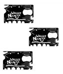18 Tools In 1 Wallet Ninja Toolkit Credit Card Size Pack Of 3