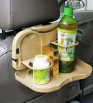 Automobile Car Meal Plate Drink Cup Holder Tray Organizer