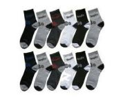 12 Pairs Of Men Ankled Cotton Socks Free Gift