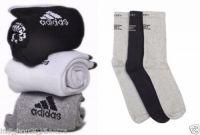 Set Of 6 Pairs - 3 Adidas 3 Jockey Logo Sports Ankle Length Socks