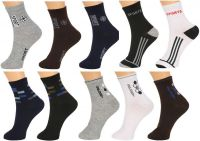 Grabberry Mens Assorted Printed Ultra Light Weight Formal Cotton 10 Pairs Pack Socks - Awc0916grb015ee_d1_d2_d3_d4_d5_c10