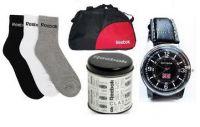 Rbk Combo Duffle Bag Black Watch And Socks
