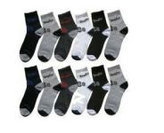 12 Pairs Of Ankled Cotton Socks