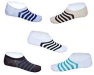 Set Of 5 Pairs Invisible Designer No Show Loafer Socks For Women