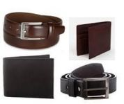 Combo Offer 2 Belt With 2 Wallet