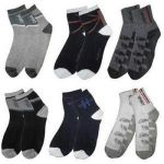 6 Pairs Of Men Ankled Cotton Socks Card Holder