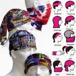 Bikers Multi Purpose Face Mask Bandana Scarf 4 PCs Lot Balaclava Cap