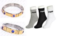 Combo Of Magnetic Blood Pressure Control Bracelet And 3 Pairs Of Puma Socks
