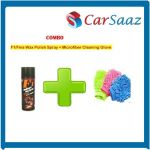 F1/fms Wax Polish Spray For Leather/dashboard/plastic Microfiber Cleaning Glove