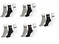Puma Mens Cotton Multicolor Socks (15 Pair Socks- 5 Black, 5 White , 5 Grey) (code - Puma-5)