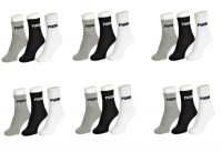 Puma Mens Cotton Multicolor Socks (18 Pair Socks-6 Black,6 White ,6 Grey) (code - Puma-6)