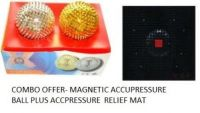 Combo Of Magnetic Accupressure Relief Mat And Accupressure Needle Ball