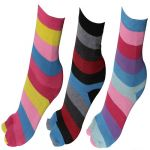 Grabberry Assorted Striped Design Cotton Socks For Women [pack Of 3]-awc1116grb068a_c3