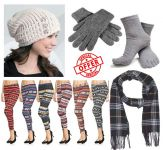 5 In 1 Winter Ladies Combo Wallet, Woolen Muffler, Gloves, Cap, 5 Finger Socks