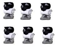 Adidas Mens Cotton Multicolor Socks (18 Pair Socks-6 Black,6 White ,6 Grey) (code - Adidas-6)
