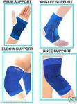 Ankle Knee Elbow Palm Support Combo Pairs Of Each For Gym Exercise Grip