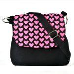 Pick Pocket Purple Top Black Canvas Sling Bag