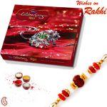 Cadburys Celebration Pack With Beautiful Rakhi - Cho1705