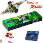 Aapno Rajasthan Kids Ben10 Drawing Box And Rakhi Hamper - Hpr17154