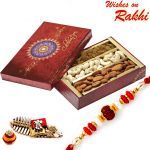 Rakhi For Usa- Aapno Rajasthan Festive Box With Cashew, Raisins, Almonds And Rakhi - Us_mb1729