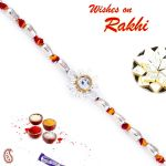 Aapno Rajasthan Cylinderical Beads Mauli Thread Rakhi - Prs1702