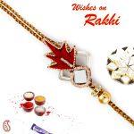Rakhi For Abroad_aapno Rajasthan Mirror Work Rich Zardosi Rakhi - Int_prs17206