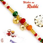 Rakhi For Abroad_aapno Rajasthan Colorful Beads Rakhi With Bell - Int_prs1795