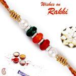 Rakhi For Abroad_aapno Rajasthan Multicolor Beads Mauli Thread Rakhi - Int_prs1796