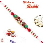 Aapno Rajasthan Mutlicolor Beads & Ad Studded Beautiful Rakhi - Rj17355