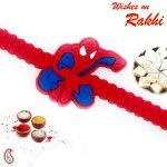 Rakhi For Usa- Aapno Rajasthan Spiderman Red Strap Kids Rakhi - Us_rk16706