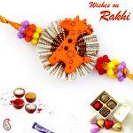 Aapno Rajasthan Cute Brown Giraffe Motif Kids Rakhi - Rk17708
