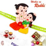 Rakhi For Usa- Aapno Rajasthan Brother & Sister Motif Green Band Kids Rakhi - Us_rk17804