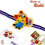 Rakhi For Abroad_aapno Rajasthan Cartoon With Speaker Motif Kids Rakhi - Int_rk17869