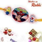 Rakhi For Abroad_aapno Rajasthan Assorted Cartoon Characters Motif Kids Rakhi - Int_rk17871