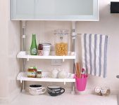 Kawachi Multifunction Home Stainless Steel Kitchen Shelving Storage Rack
