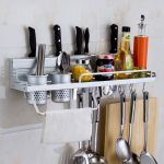 Kawachi Space Aluminum Kitchen Rack Cooking Tools Holder Spice Rack 40cm