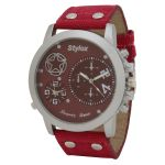 Stylox Wh-stx403 Red Dial Analog Watch - For Men