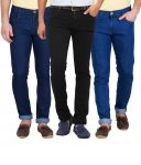 Stylox Pack Of 3 Jeans For Men (product Code - Dnm-1001-2-3-3dnm)