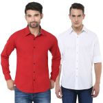 Stylox Pack Of 2 Stylish Multicolor Shirts For Men (product Code - Sh-2cmbo-040-42)