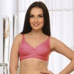 Clovia Soft Cup Cotton Bra In Reddish Pink Br0185q23